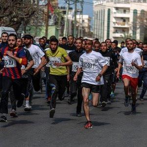 İsrail hapishanelerindeki Filistinlilere destek koşusu