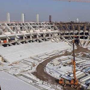 Eskişehirspor'un yeni stadında sona doğru