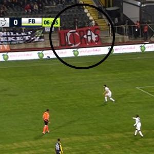 Fenerbahçe maçında bayrak skandalı