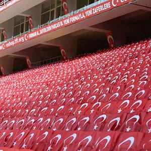Antalya Stadı, Türk bayrakları ile donatıldı