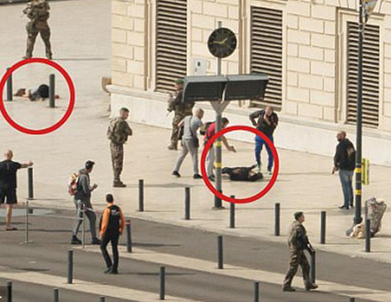 Fransa'da bıçaklı saldırı ! Saldırgan öldürüldü
