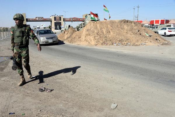 Peşmerge, Erbil-Kerkük yoluna yığınak yaptı
