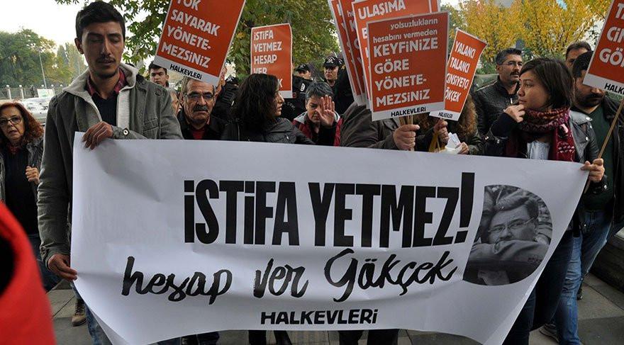 Ankara'da Melih Gökçek eylemi
