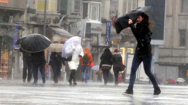 Şemsiyesiz çıkmayın ! Meteoroloji'den sağanak yağış uyarısı