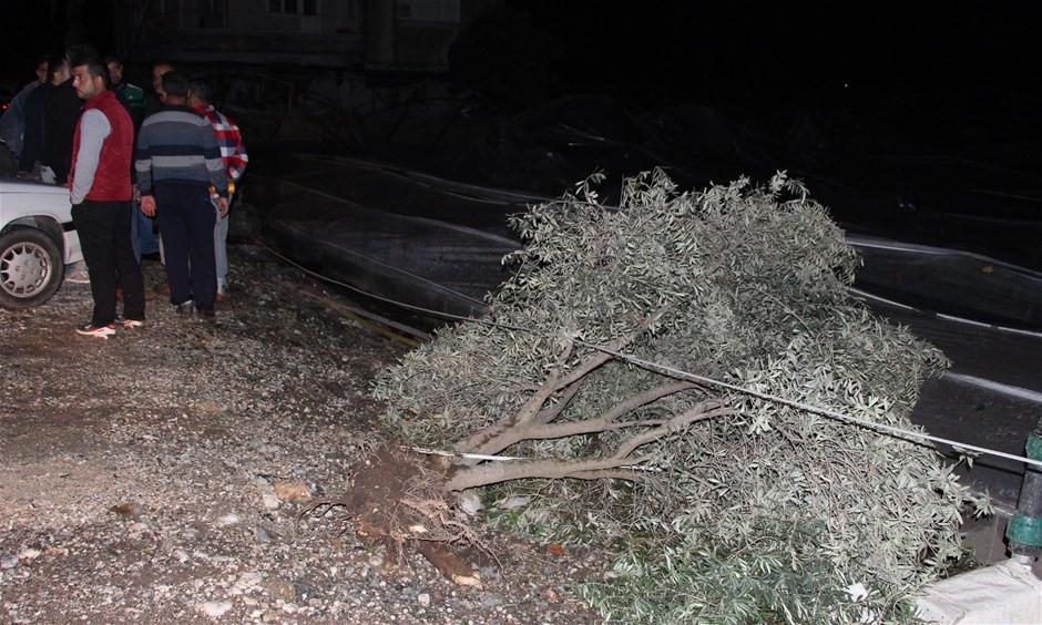 Antalya'da hortumun şiddeti gün ağarınca ortaya çıktı