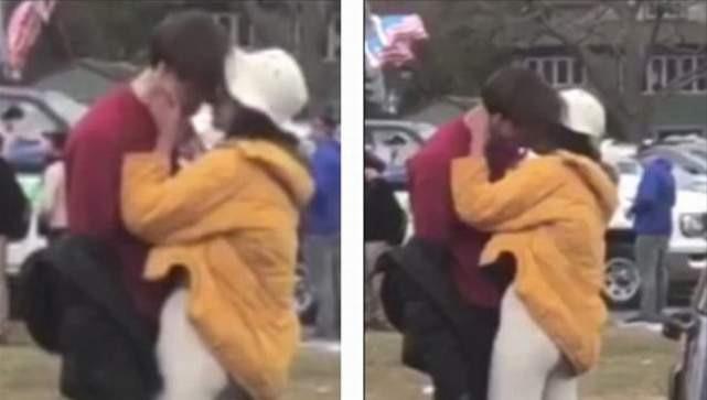 Obama'nın kızı dudak dudağa yakalandı