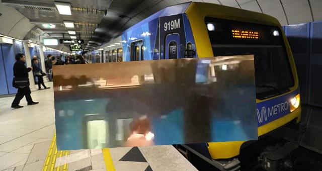 Metroda eşcinsel ilişki şoku ! Uyarıları da insanları da umursamadılar !
