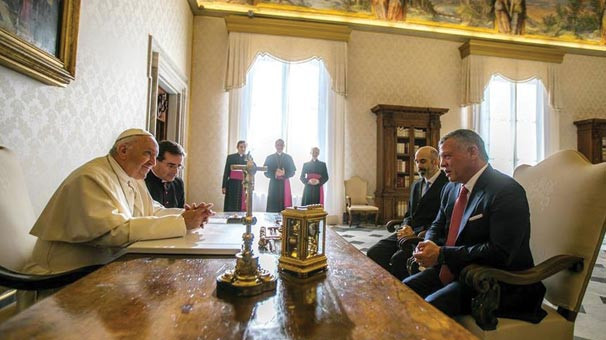 Ürdün Kralı, Papa ile buluştu
