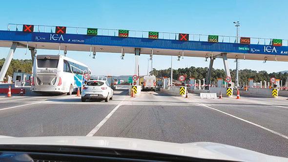 TEM'de 2,5 km'lik yola 18 TL'lik ücret