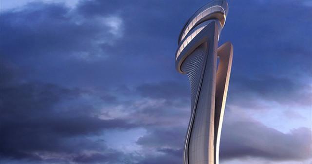 3. Havalimanı'nın kulesi böyle görüntülendi