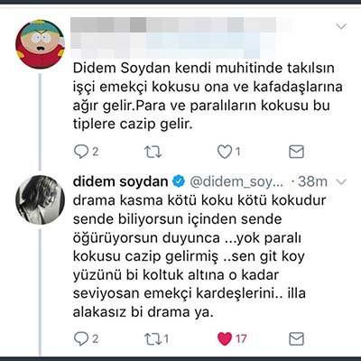 Didem Soydan sosyal medyada takipçisine bu yanıtı verdi