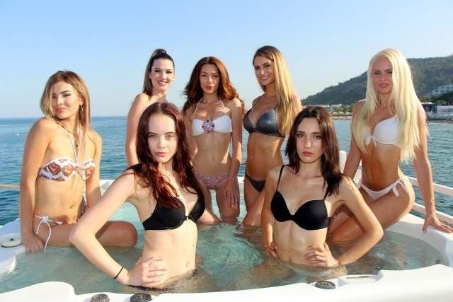 Miss Kemer International Güzellik Yarışması'nın güzelleri Kemer'de kampta