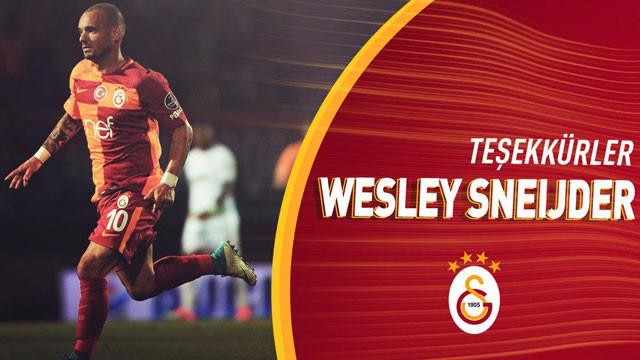 Galatasaray'dan Wesley Sneijder'a teşekkür