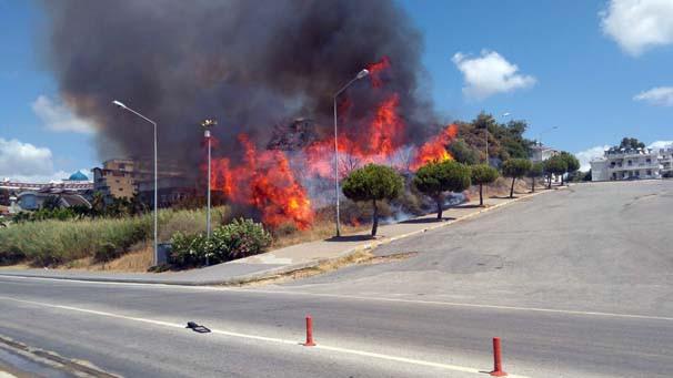 Antalya'da yangın paniği - Resim: 1