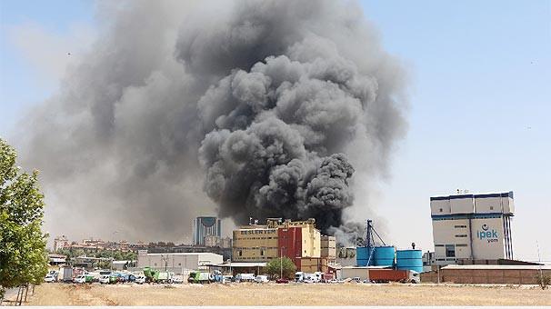 Gaziantep'de fabrikada yangın