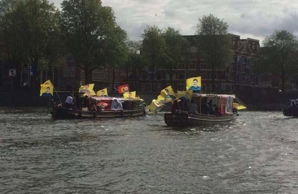 PKK yandaşları tekne turu yaptı !