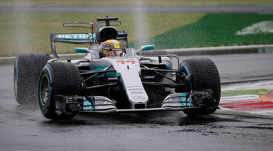 Schumacher'in rekoru sağanakla kırıldı