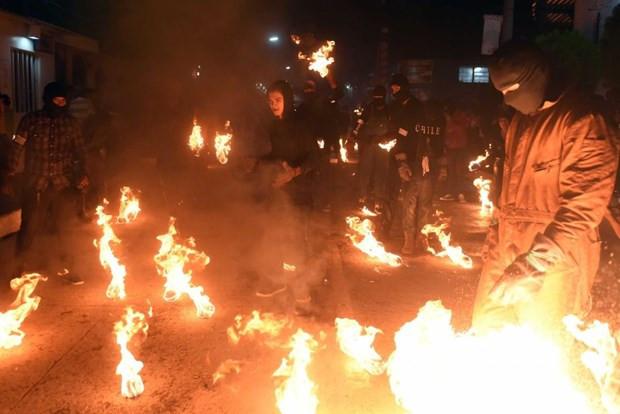 Festivalde ateş topları havada uçuştu !