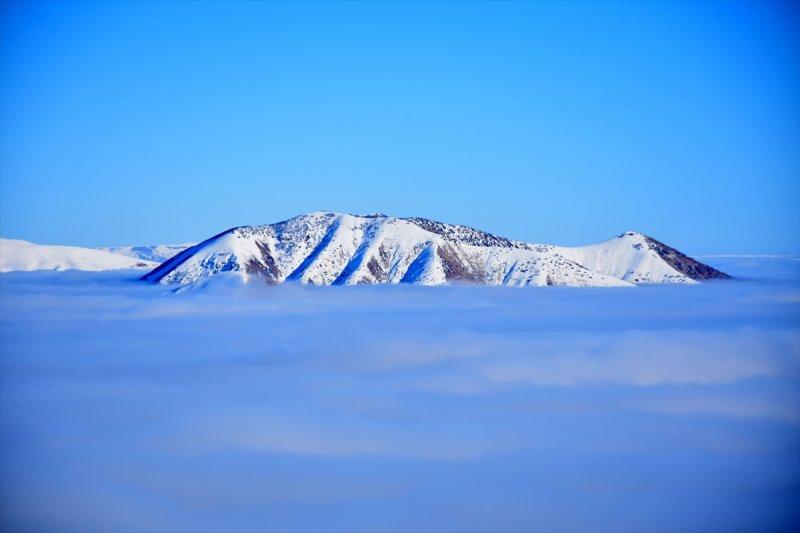 Karla kaplı Muş Ovası büyüledi