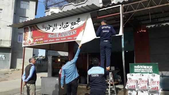 Arapça dükkan tabelaları için flaş karar !