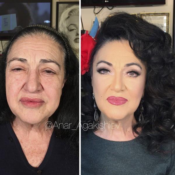 Makyajla bambaşka biri oldular !