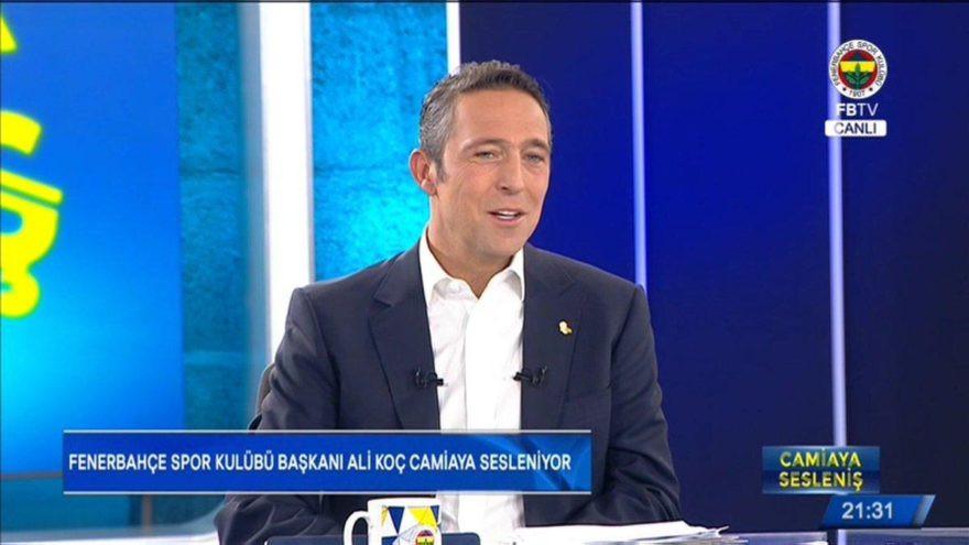 Ali Koç canlı yayında konuşuyor !