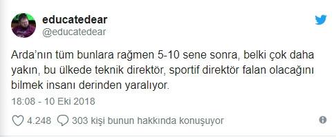 Sosyal medyada Arda Turan'a büyük tepki !