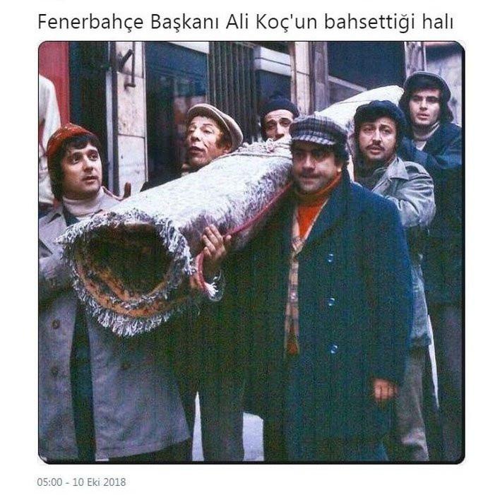 Ali Koç'un 'halı' açıklaması sosyal medyayı salladı !