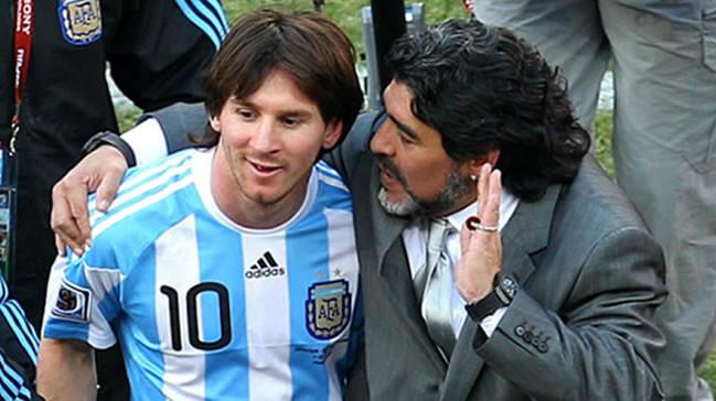 Maradona'dan Messi için olay sözler !
