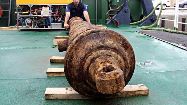 Bodrum'da 250 yıllık savaş gemisi bulundu