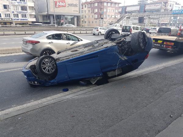 Avcılar'da feci kaza ! Lüks araç takla attı