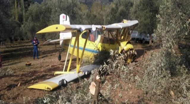 Balıkesir'de uçak düştü
