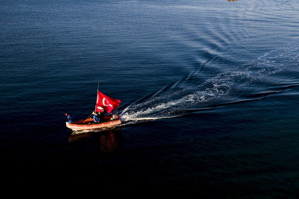 10 kilometrelik Ata'ya Saygı Zinciri
