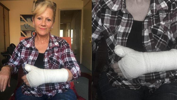 Pansuman için gitti, parmağını kırdılar