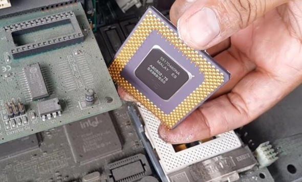 Eski bilgisayarından altın çıkardı !
