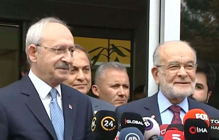 Kılıçdaroğlu ile Karamollaoğlu'yla görüştü
