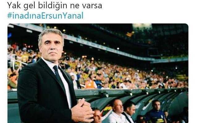 Fenerbahçe taraftarının Ersun Yanal isteği