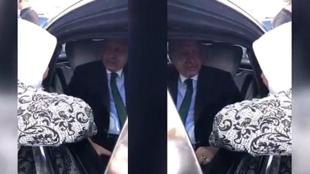 Erdoğan'ın arabasını durduran kadın: ''Mükemmel''