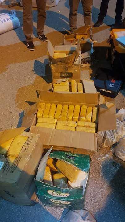 Gıda malzemelerinin arasında 110 kilogram eroin bulundu