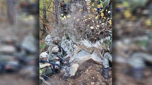 Amanoslarda PKK sığınağı bulundu