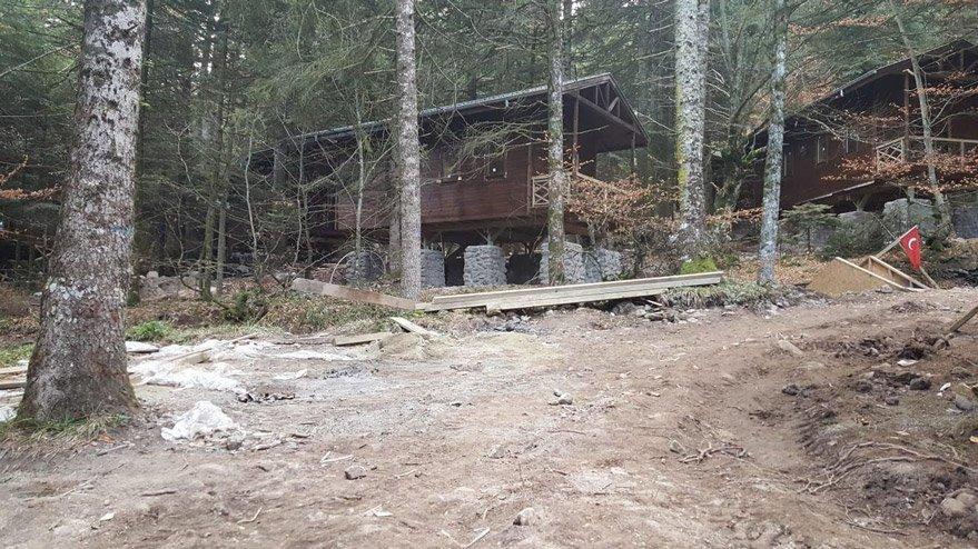 Gölcük Tabiat Parkı'nda otel inşaatı