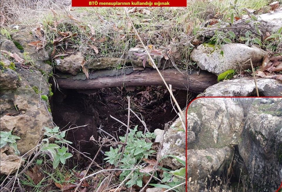 PKK'nın 7 odalı sığınağı bulundu