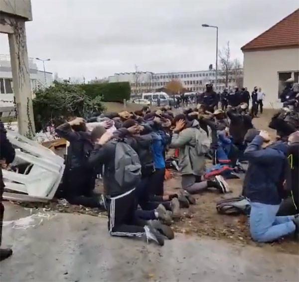 Fransa'da şok görüntüler