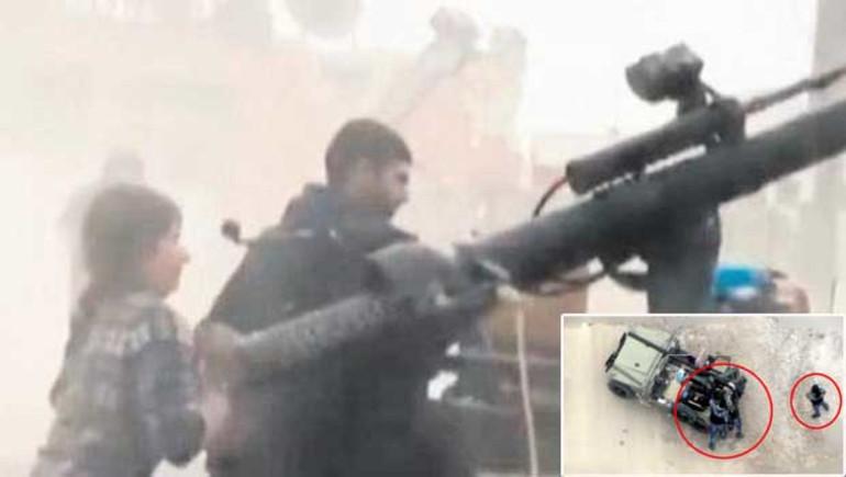 Türkiye'ye roket atan teröristlerin yeni görüntüsü ortaya çıktı