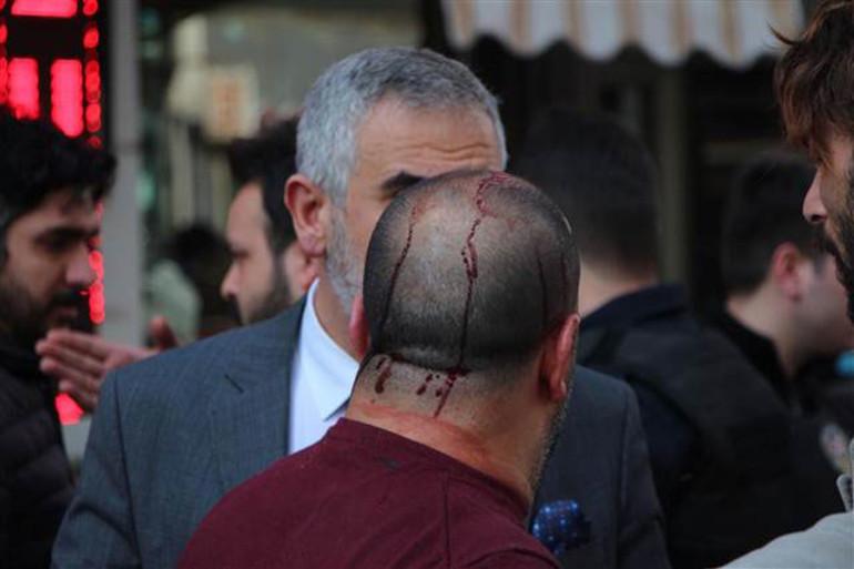 İstanbul'un göbeğinde kavga: Yaralılar var !