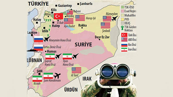 İşte güncel Suriye haritası ! Hangi ülke hangi bölgede ?
