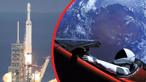 Tarihi an ! Elon Musk'ın roketi Mars'a doğru gidiyor