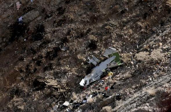 Türkiye'yi kahreden uçak kazasından görüntüler
