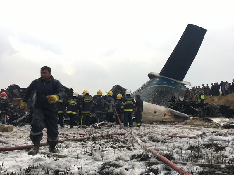 Nepal'de yolcu uçağı kaza yaptı