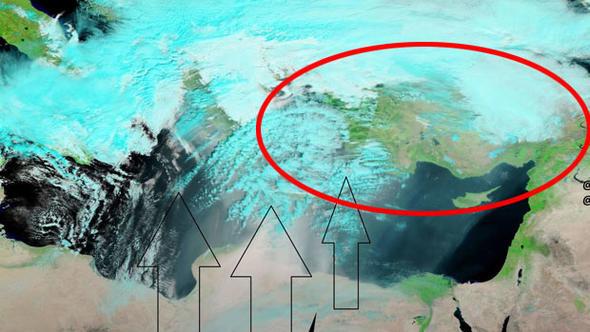 Meteoroloji uyarmıştı... NASA uydusu böyle gördü !